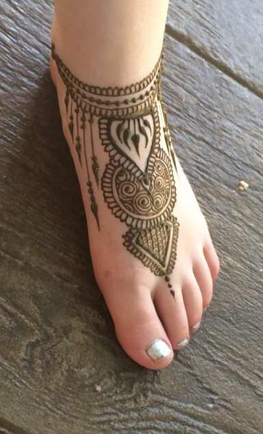 Henna foot Utah