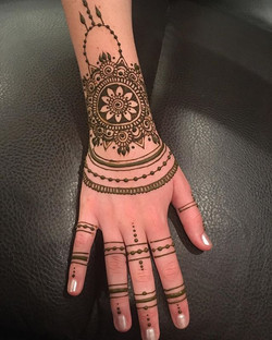 My daughter wanted a henna for the first