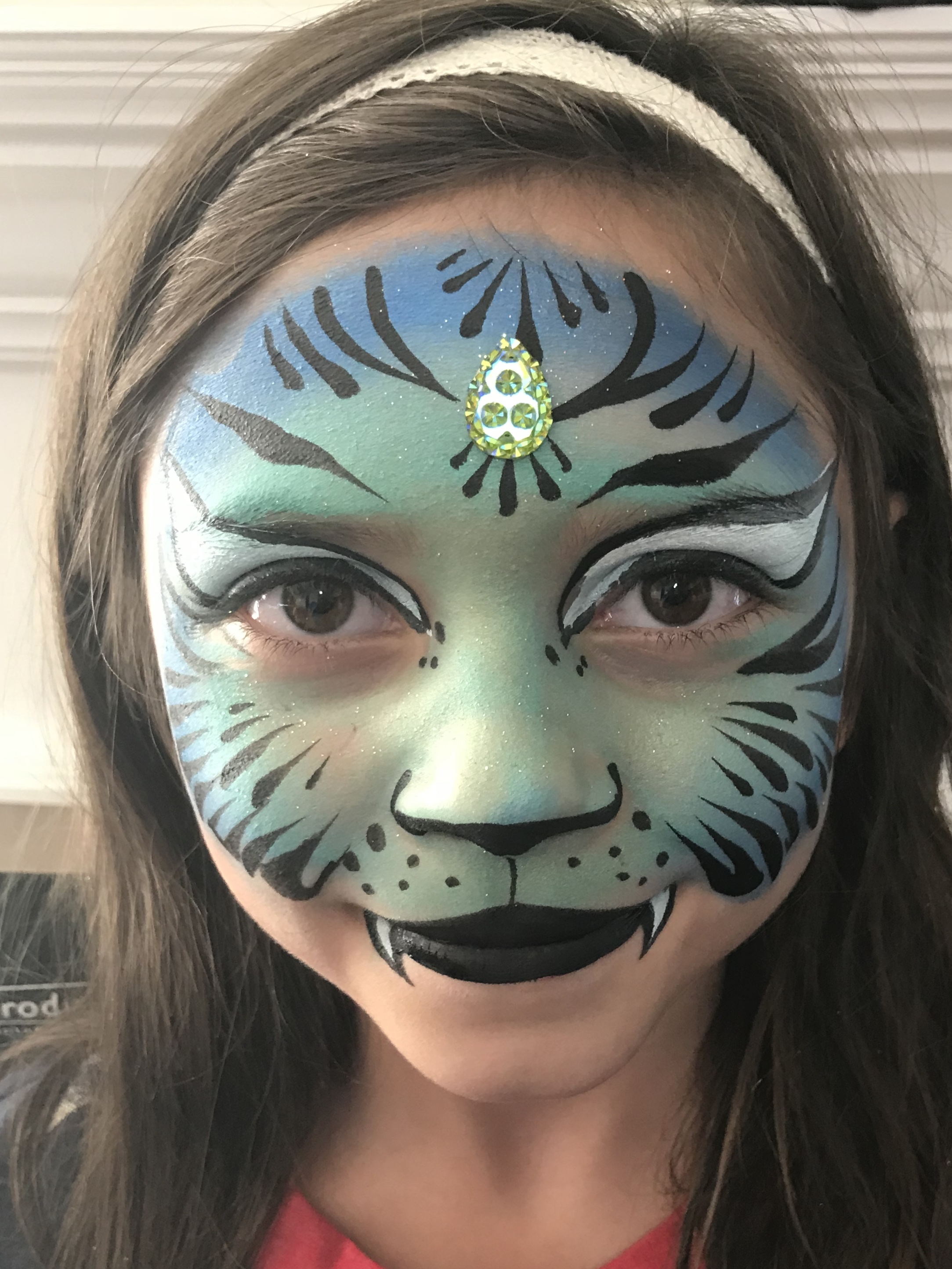 Fantasy tiger face painting