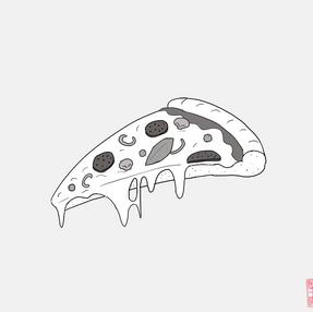 めっちゃ高いピザ。