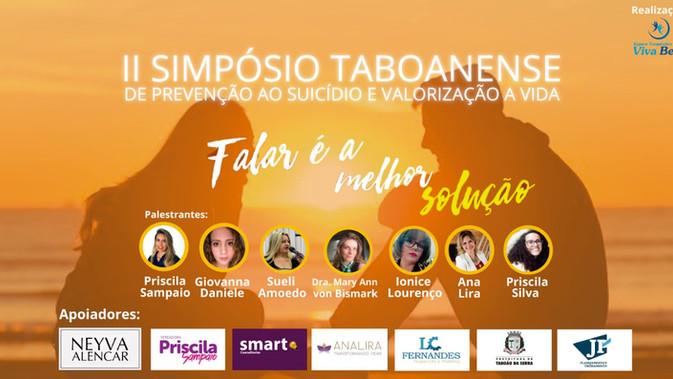 II Simpósio Taboanense de Prevenção ao suicídio e Valorização à vida.