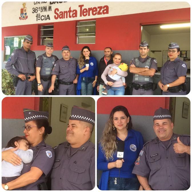 SGT. PM Batatinha relata a ocorrência de salvamento de uma criança em Embu das Artes.