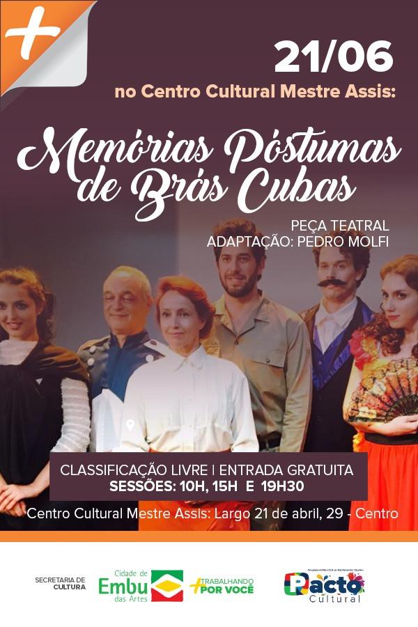 Espetáculo Teatral no Centro Cultural Mestre Assis em Embu das Artes.