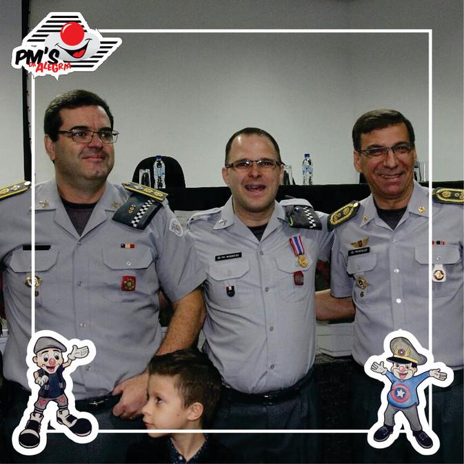 PM's da Alegria recebem medalha do Mérito Comunitário 2017.