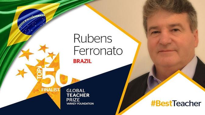 Educador brasileiro Rubens Ferronato é indicado ao Prêmio Global Teacher Prize!