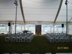 Exterior Tent Setup