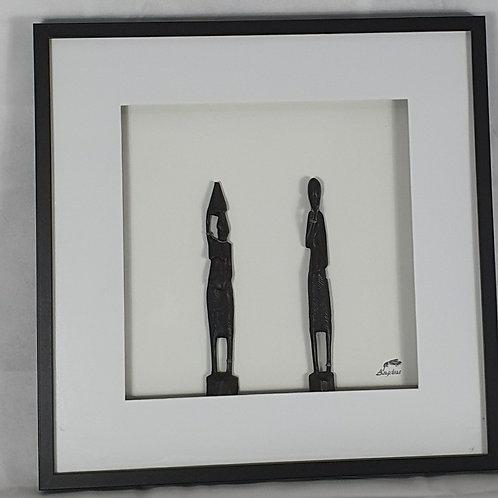 African figurine wall art