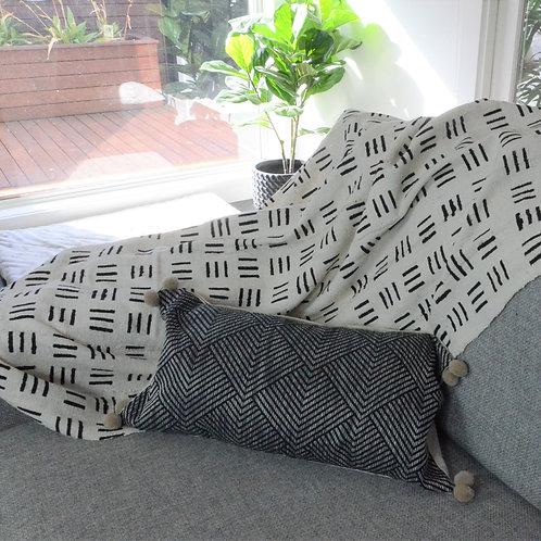 Chenille Geometric cushion