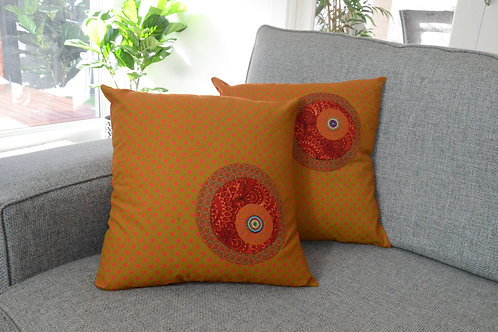 Cotton beaded cushions