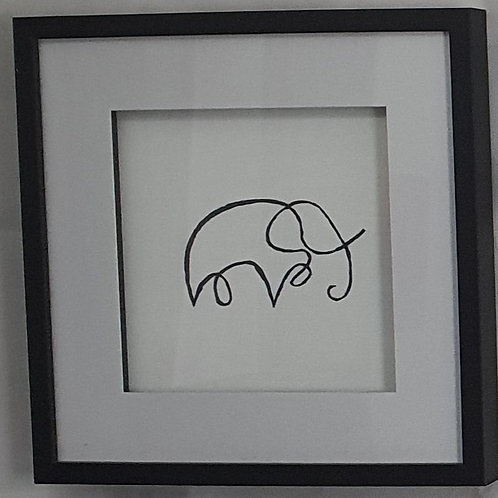 Elephant -handpainted
