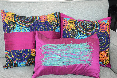 Africa Silks Cushion set of 3