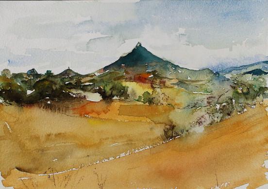 Villamayor de Monjardín desde el Camino originario