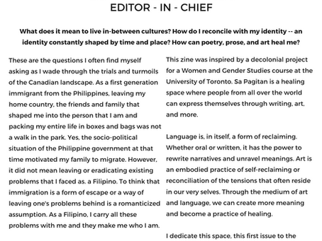 A Letter from the Editor