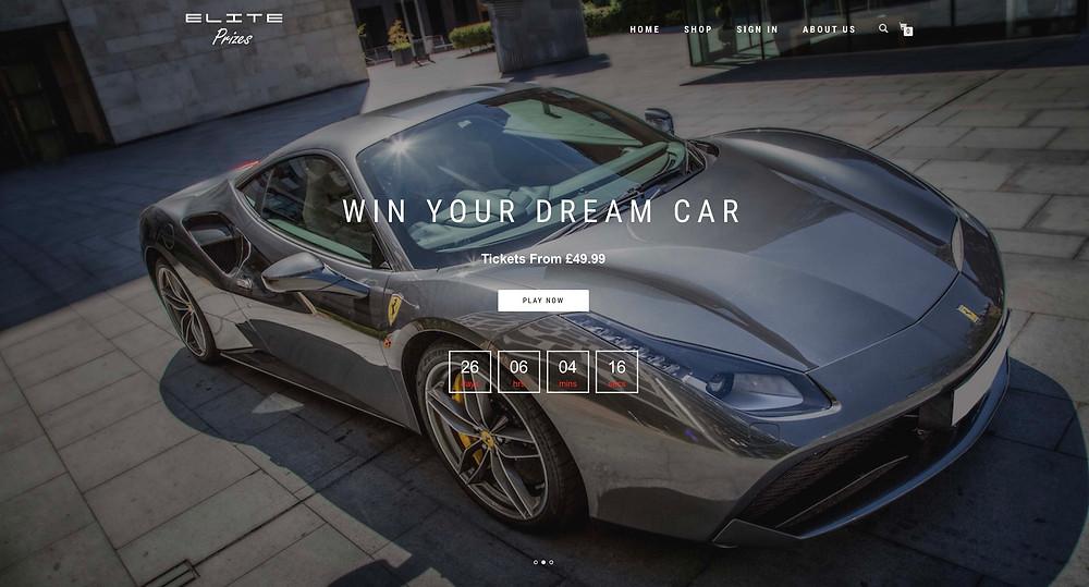 FERRARI 488 GTB on Elite Prizes website