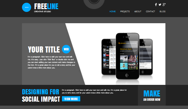 Teknologi og apper website templates – Webstudio