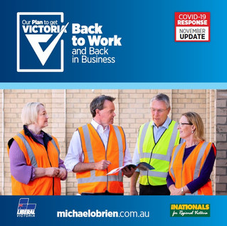 Liberal Nationals release new plan to get Victorians back to work and back in business