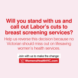 Liberal Nationals fight for 29,000 women hit by breast screening cuts
