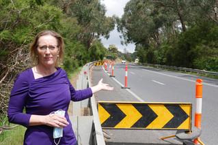 Maroondah Highway roadwork deserted