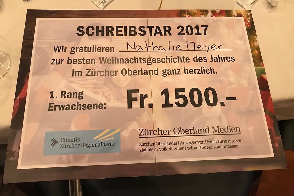 Schreibstar 2017 - Stadthofsaal Uster