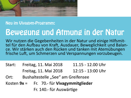 Atempower & Entspannungskurs sowie Outdoor-Fitness in Uster