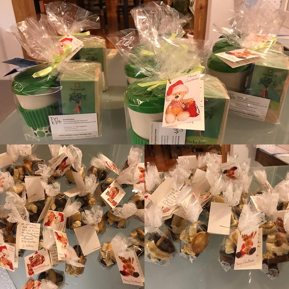 Geschenke von Nathalie Meyer bewegt an Mitglieder und Kunden