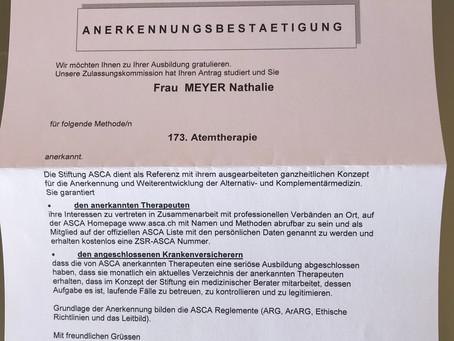 ASCA anerkannt für Atemtherapie in Uster, Seegräben und bei Ihnen zu Hause im Zürcher Oberland