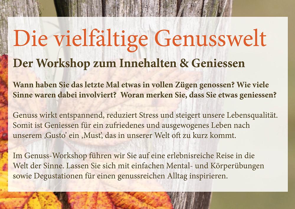 Genuss Workshop Wetzikon