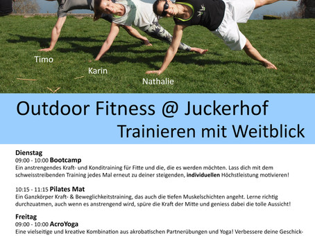 Outoor Fitness auf dem Juckerhof in Seegräben