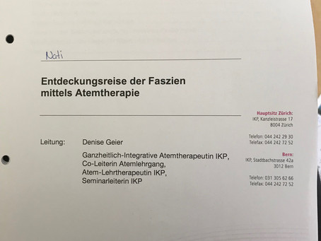Faszientraining in der Atemtherapie