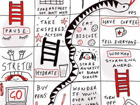 Business Snakes and Ladders.