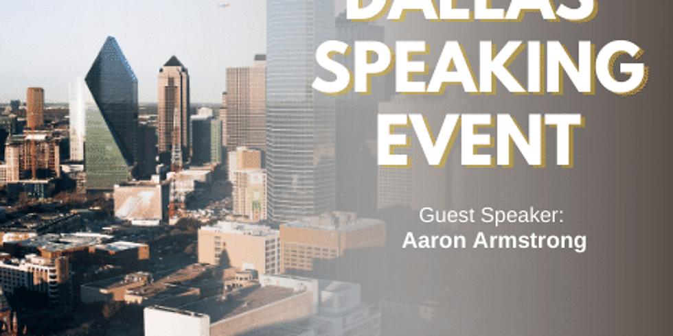 Dallas Texas Speaking Event