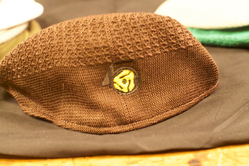 Brown Mesh Newsboy Ivy Cap Hat