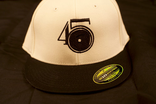 White/Black Fitted Cap