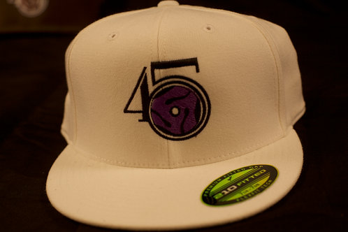 White/Purple Fitted cap