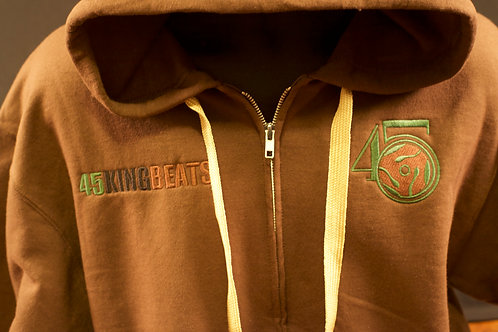 Brown lite Hoodie with Brown logo