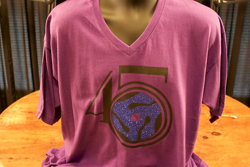 Purple T-shirt with logo