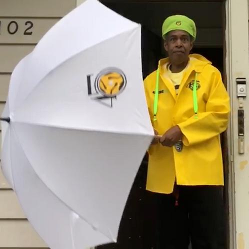 White 45 King Umbrella
