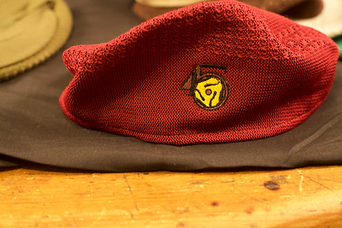 Maroon Mesh Newsboy Ivy Cap Hat