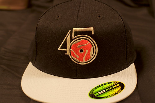 Black/Grey Fitted Cap