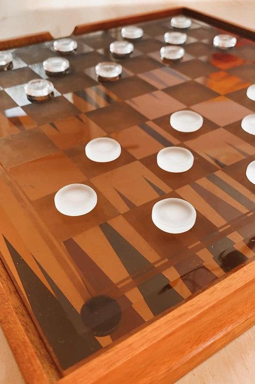 3 Jeux: Echecs, Dames, Backgammon, dans un seul coffret
