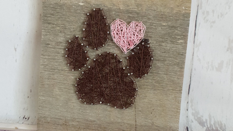 Paw with Pink Heart