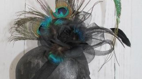 Peacock Right Curl Feather Facinator