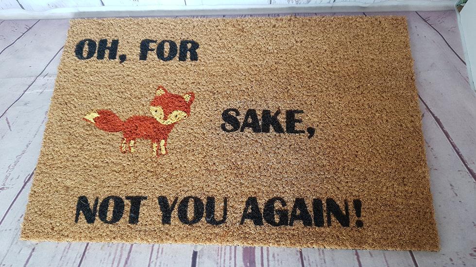 For Fox Sake Door Mat