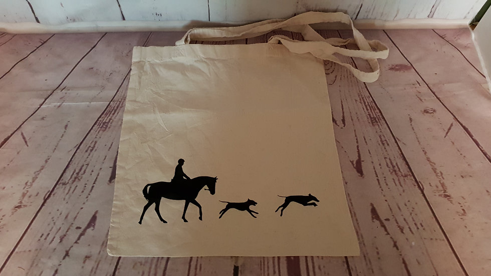 Horse & Hounds Tote Bag
