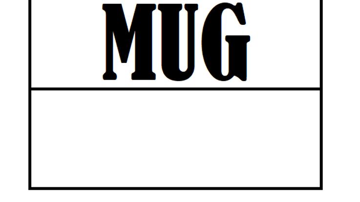 (Mug) Printed Sublimation Sheet x 1
