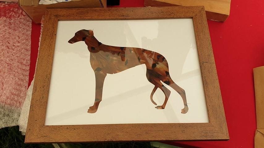 Greyhound Feather Silhouette