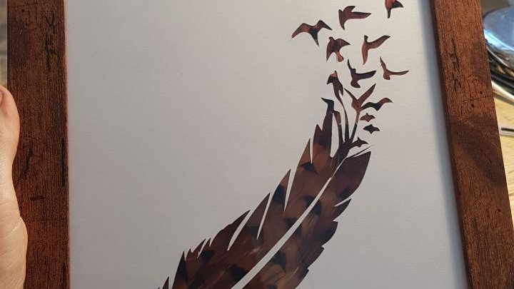 Flyaway Feather Feather Silhouette