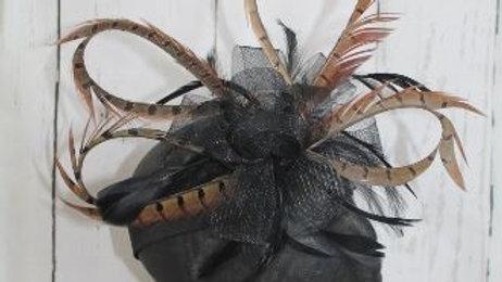 Circled Tail Feather Facinator (Comb)
