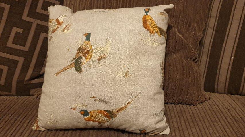 Pheasant Cushion (1)