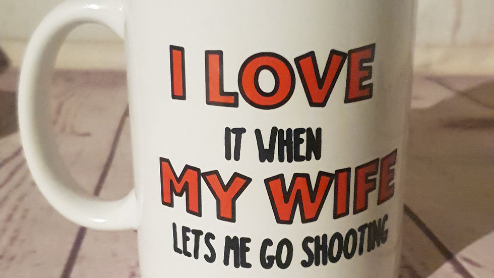 """I love it when"" mug"